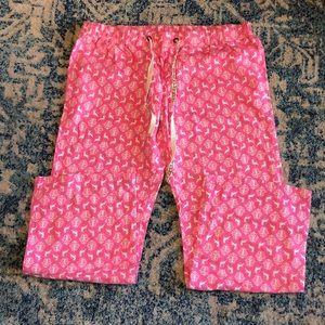 Pink Reindeer Christmas Pajama Pants
